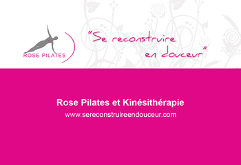 carte de visite rose pilates