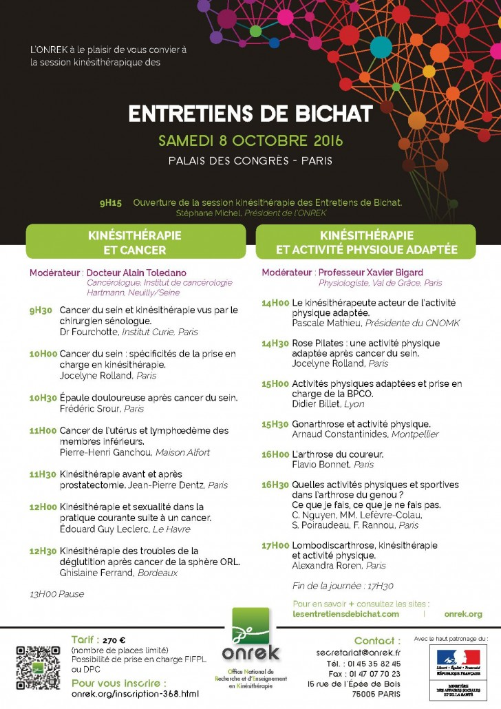 programme entretiens de Bichat 2016