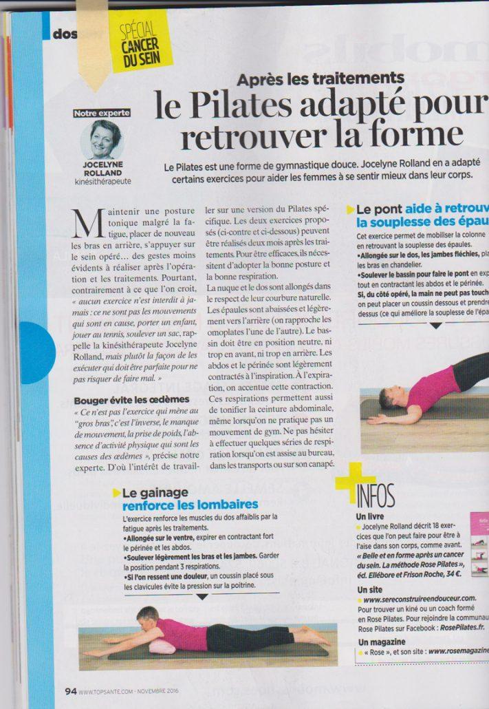 Top Santé Méthode Rose Pilates